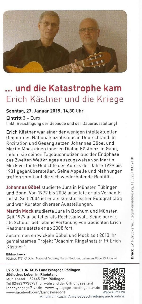 Januar 2019 Erich Kästner Gesellschaft Ev